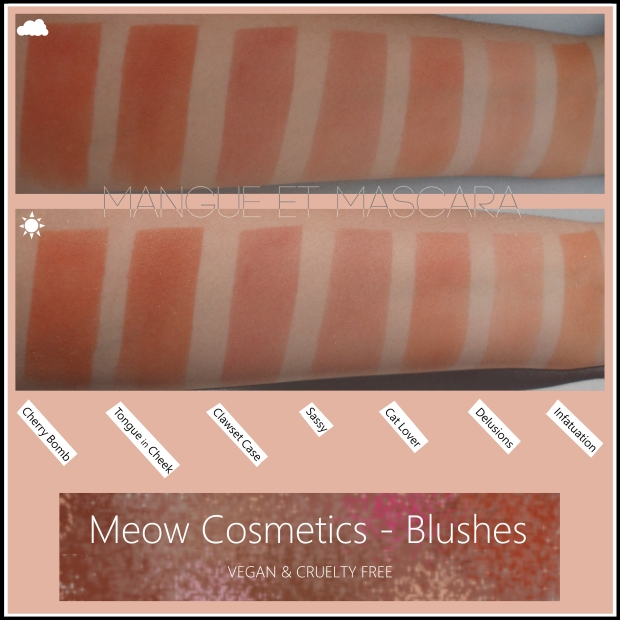 Meow Cosmetics Blushes Vegan Cruelty Free